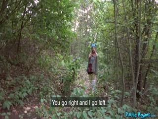 Русская сосет у мужика хуй за деньги прямо посреди леса с окончанием
